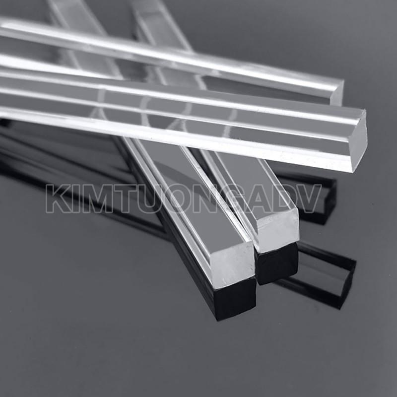 Thanh Nẹp Mica Vuông 5 mm