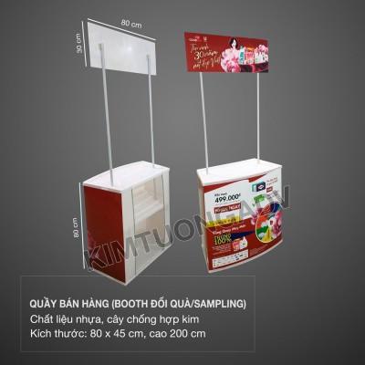 Quầy Bán Hàng Nhựa - Booth Sampling Lắp Ráp Di Động