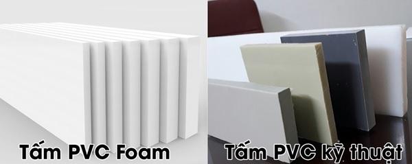 Nhận biết tấm PVC Foam và tấm PVC kỹ thuật dựa trên độ cứng, bề mặt cắt và độ bám bẩn