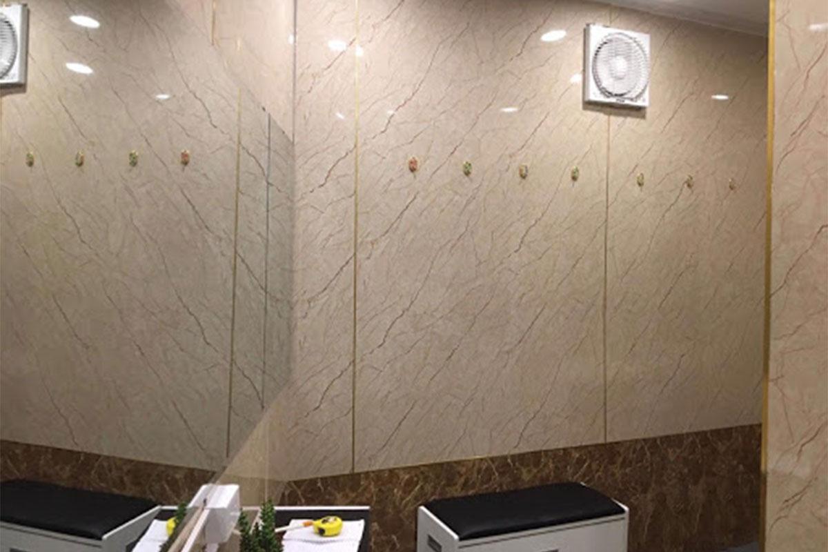 Tấm PVC giả đá phù hợp với không gian nội thất