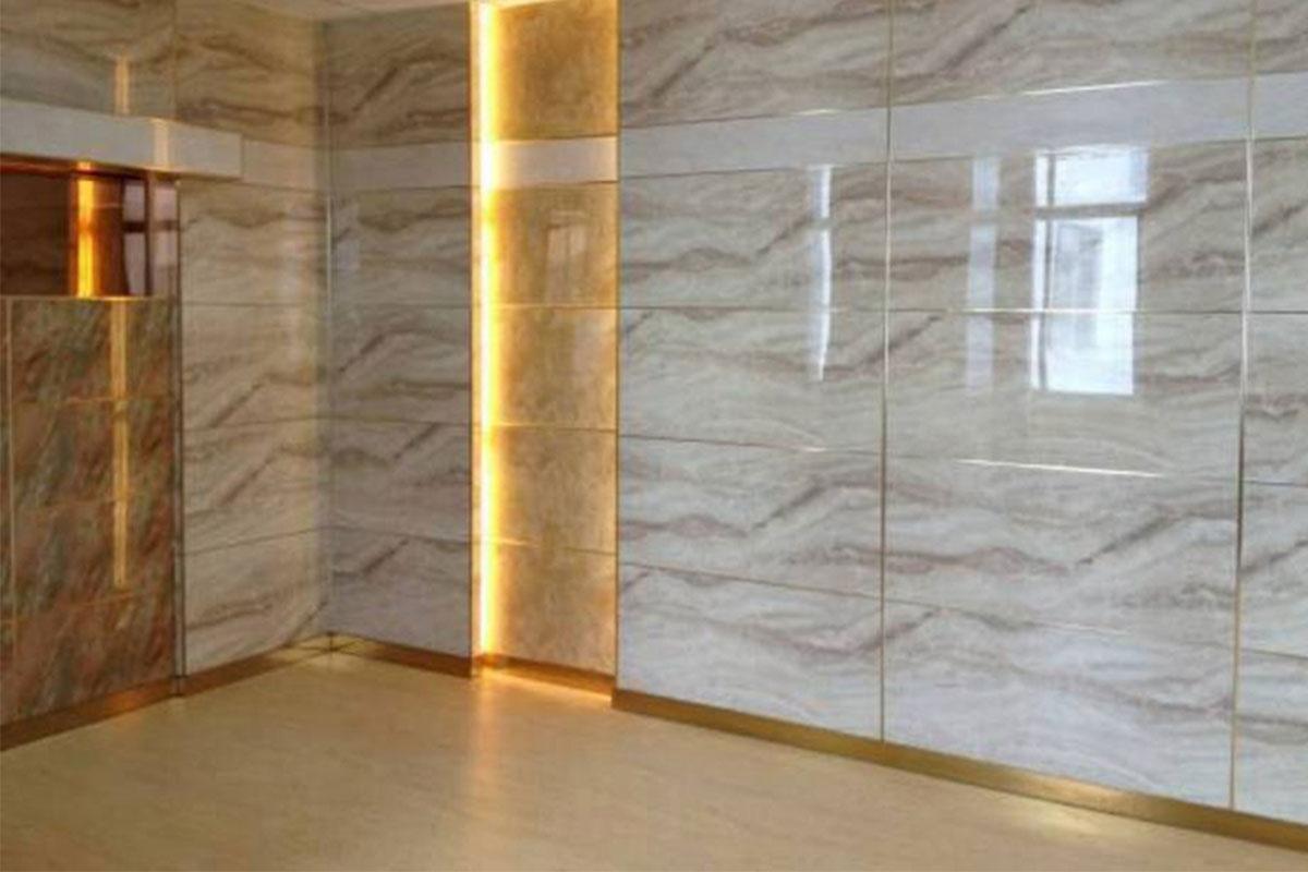 Tấm nhựa giả đá PVC được dùng để ốp tường